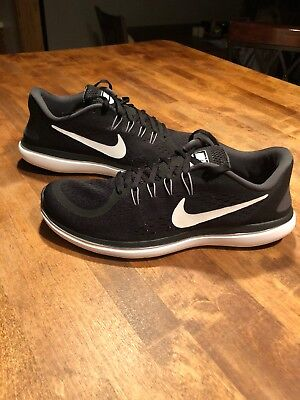 1f8a858914779 Nike Flex 2017 RN Sz 10.5 Black White-Anthracite Men s Running Shoes 898457-