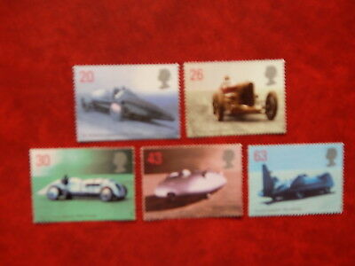 gb stamps s g 2059-2063. British Land Speed Record Holders.