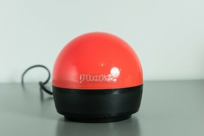 Photax Dome shape Red Darkroom Safelight, wall or ceiling hang or rest of bench
