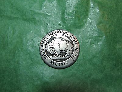 Badlands National Park South Dakota Buffalo Metal Token Travel Souvenir -T21