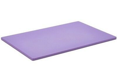 Commercial Purple Allergy Chopping Board Colour Coded Allergen 450x300x11mm