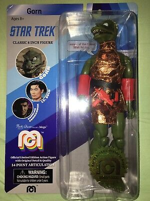 """Mego STAR TREK GORN Classic 8/"""" Action Figure LE Only 10K Made 2018"""