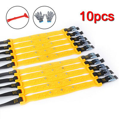 10x Winter Anti-skid Chains for Car Snow Mud Wheel Tyre Thickened Tire Tendon