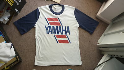 1980s RETRO OLD SCHOOL YAMAHA MOTORCYCLE MENS T SHIRT SIZE 16, 38-40 CHEST