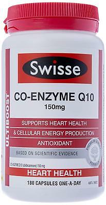 Swisse ultiboost CoEnzyme Q10 150 mg 180 Capsules NEW Heart and Energy Support