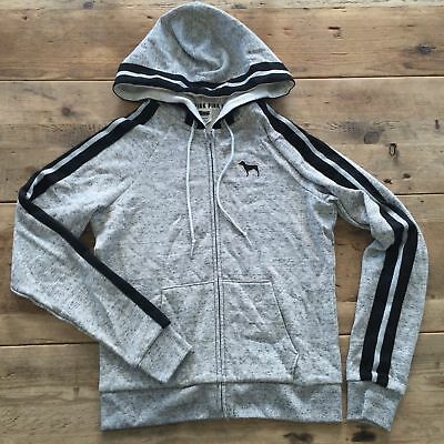 7a271a1347913 VICTORIA'S SECRET PINK Perfect Full Zip Hoodie Charcoal Marl Gray ...