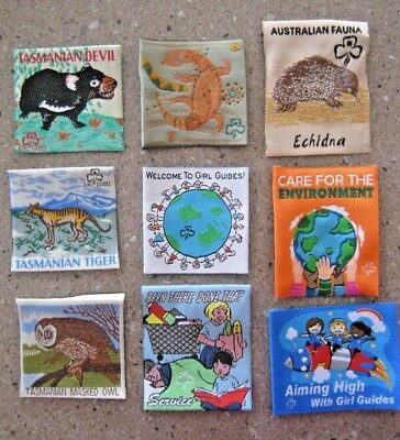 Girl Guides Australia Badges Animals & more COLLECTIBLE