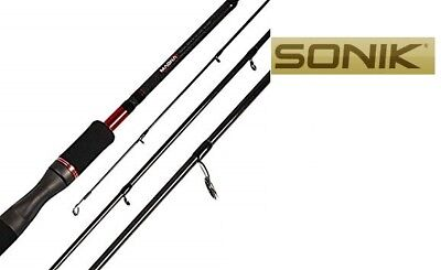 Sonik Magna 9ft 4-Piece Travel Spinning Rods With Travel Tube