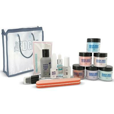 The Edge Quick Nails Coloured Powder Acrylic Dipping Kit
