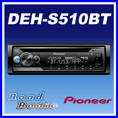 PIONEER DEH-S510BT CD Tuner Bluetooth MP3 Spotify Android iPhone Car Stereo