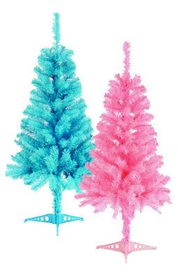Baby Blue Or Pink Christmas Tree 3ft 90cm With Stand Decoration Artificial