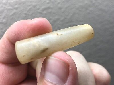 (A18) Nice Neolithic Quartz Lip / Ear Plug Labret Prehistoric African Artifact
