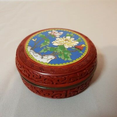 3# Alte China Cloisonne/Lacquer Dose