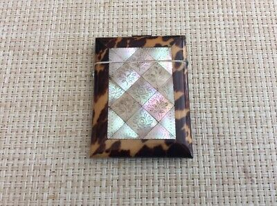 Victorian Faux Tortoise And Mother Of Pearl Card Case