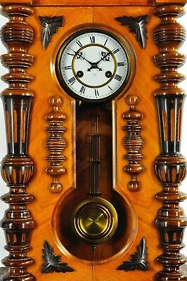 Superb Antique German Junghans Keyhole Wall Clock / Glossy approx.1900