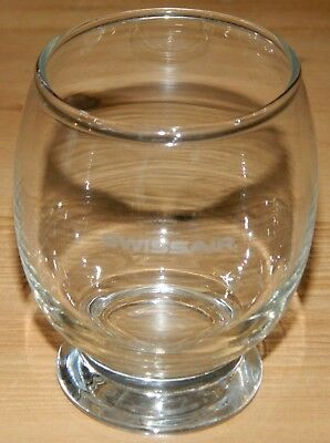 4oz Swissair Footed Glass Cup Airlines