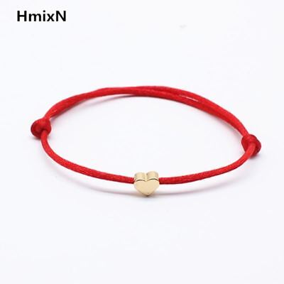 Lucky Golden Cross Heart Bracelet For Women Children Red String Adjustable