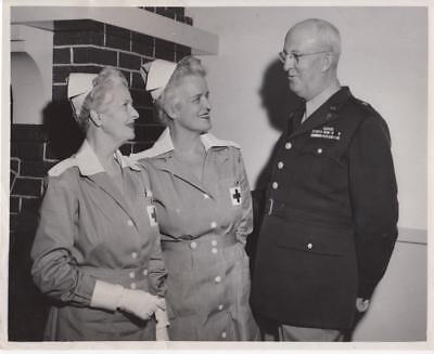 General Frank Cole and Red Cross Ladies 3/7/50- military still