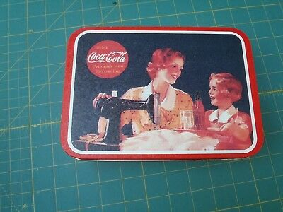 "Vintage Coca-Cola ""It's pause time....Mother"" Tin Box 1993"