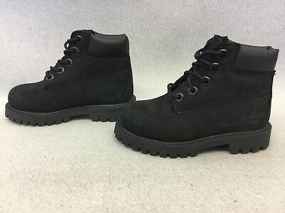 TIMBERLAND KID'S 6 inch Premium Waterproof Boots For Toddlers, Black #BR18