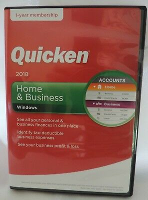 NEW Quicken Home & Business 2018 WINDOWS Sealed Finance Budget CD/Download