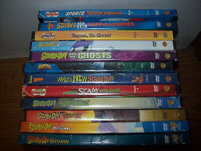 DVD LOT OF 12 SCOOBY DOO MOVIES  free shipping [please look]