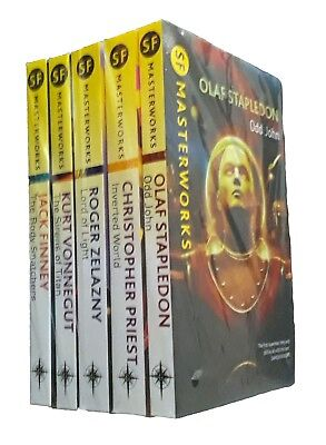 SF Masterworks 5 Book Collection Stapledon Priest Classic Science Fiction New