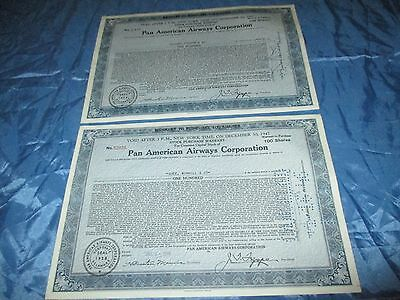 histor. Wertpapiere USA , Pan American Airways , Nov. + Dezember 1945 / # 362