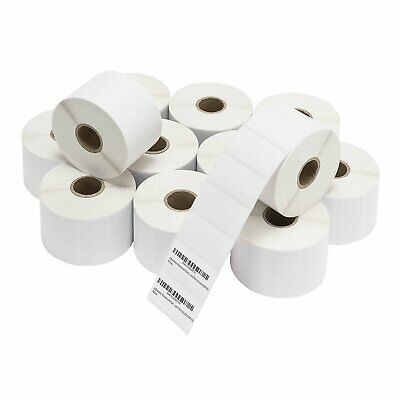 6-120 Rolls 1000/Roll 2.25x1.25 Direct Thermal Shipping Barcode Label Zabra 2824