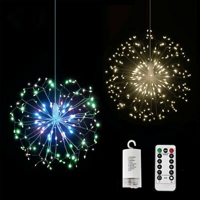 Firework Copper Wire Lights 120 LED Hanging Fairy Strip String Lights Xmas Decor