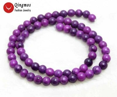 6mm Round Purple Natural Sugilite Loose Beads for Jewelry Making DIY 15'' los764
