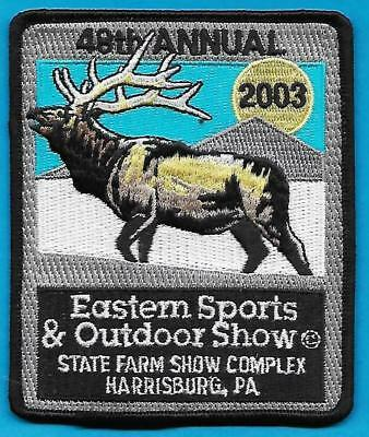 Pa Pennsylvania Game Fish Commission 2003 Eastern Sports & Outdoor Show Patch