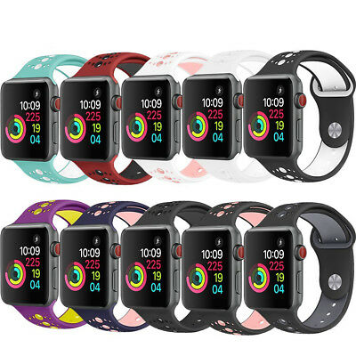 Replacement Soft Silicone Sport Band Strap for Apple Watch iWatch 4 3 2 42/38mm