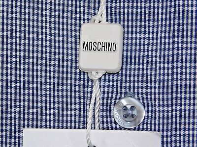 Moschino Mens Boxed Long Sleeve Embroidered Heart Shirt Light Grey Bnwt Attractive Fashion Shirts Clothing, Shoes & Accessories