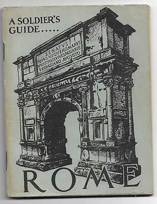 World war II book,96 pages, A Soldier's Guide to Rome