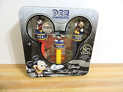 Pez Mickey Collectible Disney Mickey Mouse 80 Years Dispenser Collection Sealed