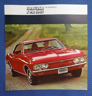 1967 Chevrolet CORVAIR Only Color Sales Brochure - ORIGINAL New Old Stock