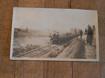 Antique Postcard Picture of Railroad Being Built Through Salina Kansas 1918