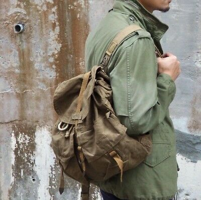 Czechoslovakian M60 Backpack Brown Surplus WW2 VTG German Rucksack Pack Bag