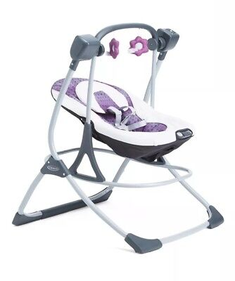0ca7c26513c2 GRACO COZY DUET Infant Baby Soothe Surround Removable Swing   Rocker ...