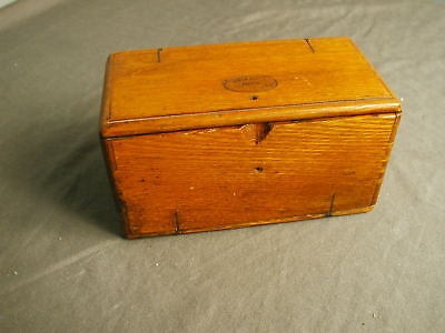 VINTAGE WOODEN SEWING BOX PUZZLE STYLE - USED FOR SEWING MACHING PIECES - sb