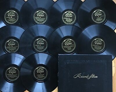 """Lot of 10 PRE-WAR VICTOR VE Early Electric~Hot Jazz~Fox-Trot~10"""" 78s~VERY CLEAN!"""