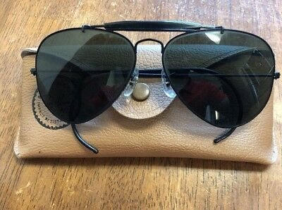 5838d249a5 B L RAY BAN Made In Usa G15 Uv Gp Outdoorsman Aviator Sunglasses ...