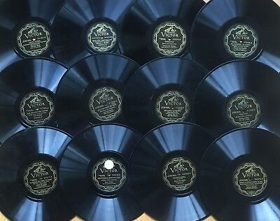 """Lot of 12x Pre-War VICTOR ELECTRICAL~Personality~Popular Vocal~10"""" 78s~CLEAN! #4"""