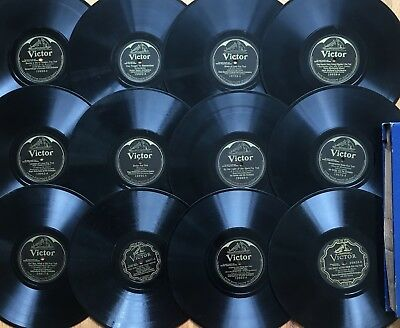 """Lot of 12 PRE-WAR VICTOR VE Early Electric~Hot Jazz~Fox-Trot~10"""" 78s~CLEAN~RARE!"""