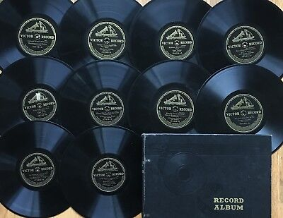"""Lot of 10x PRE-WWI Early VICTOR~Personality~DANCE~Vocal~10"""" 78s~SUPER CLEAN!"""