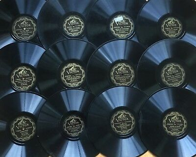 """Lot of 12 Pre-War THE REVELERS~Victor ELECTRICAL~Pop Vocal~10"""" 78s~CLEAN! w/book"""