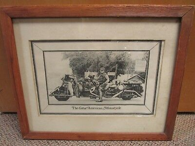 "Harley Davidson Cycle News Glass Framed Print ""The Great American Motorcycle"""