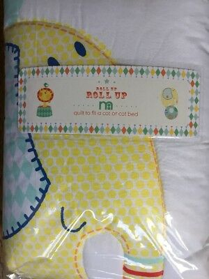 Mothercare Roll Up Roll Up Quilt For A Cot Or A Cot Bed ** Bnip **