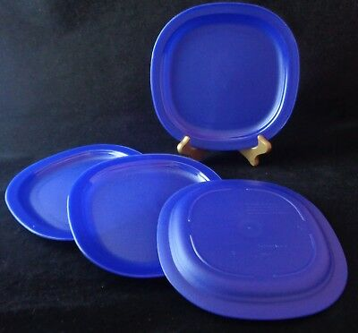 Free Shipping Tupperware Microwave Dessert Plates SET 4 Re-heat lunch NEW Tokyo